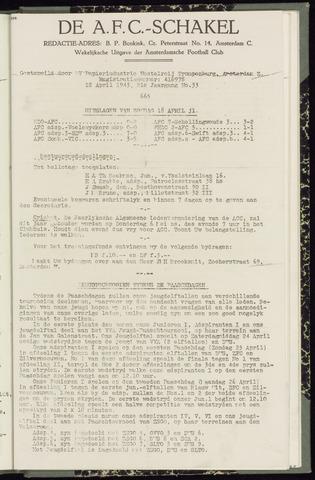 Schakels (clubbladen) 1943-04-22