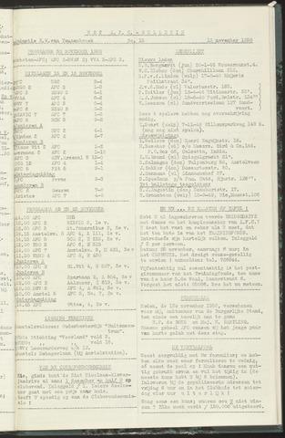 Bulletins (vnl. opstellingen) 1958-11-18