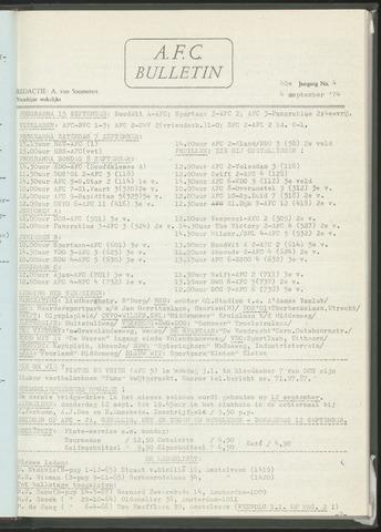 Bulletins (vnl. opstellingen) 1974-09-04