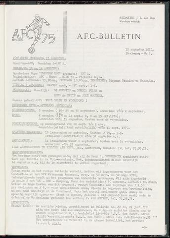 Bulletins (vnl. opstellingen) 1970-08-12