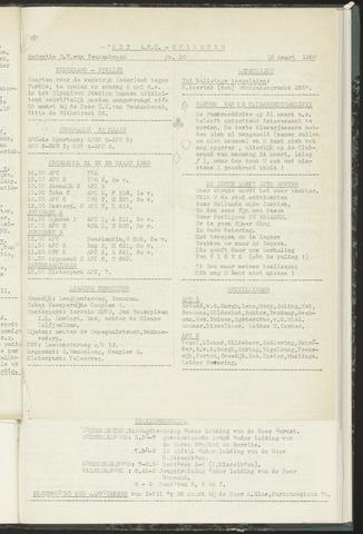 Bulletins (vnl. opstellingen) 1958-03-19