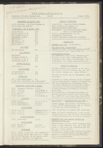 Bulletins (vnl. opstellingen) 1952-03-04
