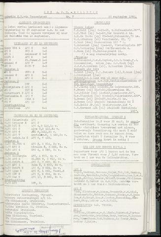 Bulletins (vnl. opstellingen) 1960-09-20