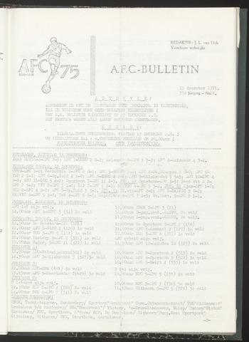 Bulletins (vnl. opstellingen) 1971-12-15