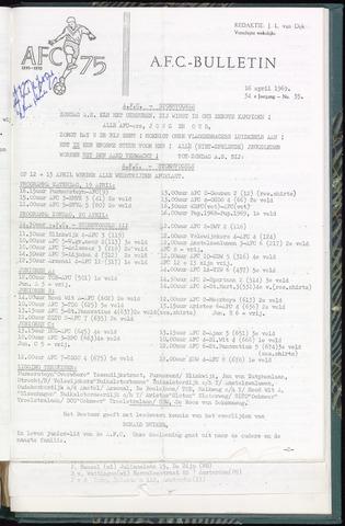 Bulletins (vnl. opstellingen) 1969-04-16