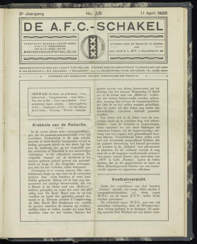 Schakels (clubbladen) 1925-04-11