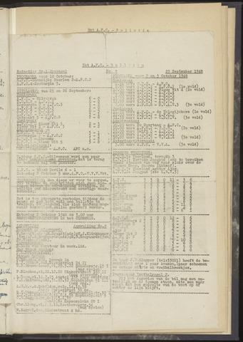 Bulletins (vnl. opstellingen) 1948-09-29