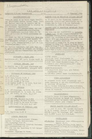 Bulletins (vnl. opstellingen) 1953-02-17