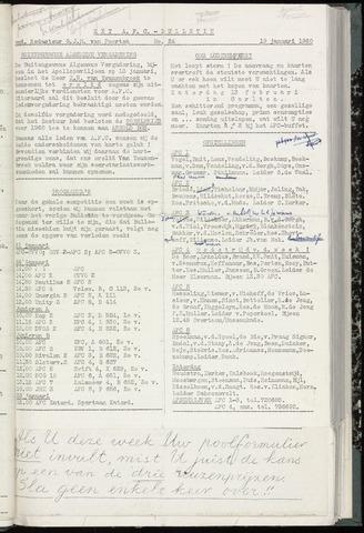Bulletins (vnl. opstellingen) 1960-01-19