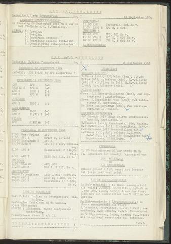 Bulletins (vnl. opstellingen) 1954-09-14