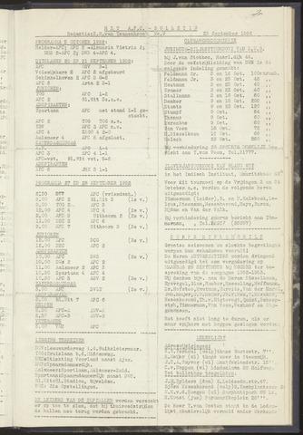 Bulletins (vnl. opstellingen) 1952-09-23