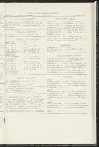 Bulletins (vnl. opstellingen) 1958-01-29