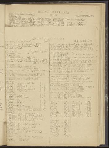 Bulletins (vnl. opstellingen) 1947-12-11