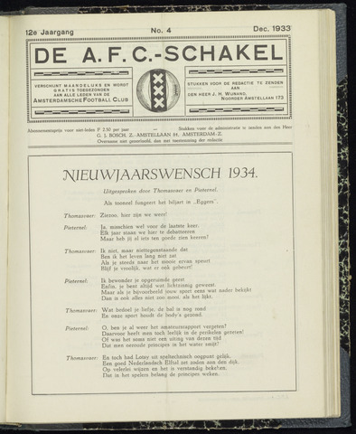 Schakels (clubbladen) 1933-12-01