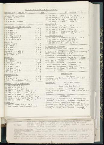 Bulletins (vnl. opstellingen) 1963-10-23