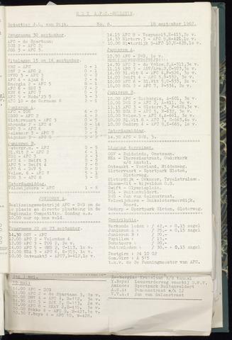 Bulletins (vnl. opstellingen) 1962-09-12