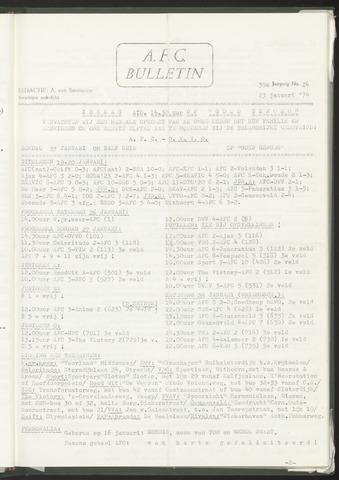 Bulletins (vnl. opstellingen) 1974-01-23