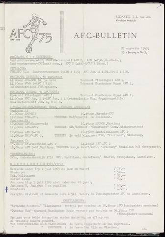 Bulletins (vnl. opstellingen) 1969-08-27
