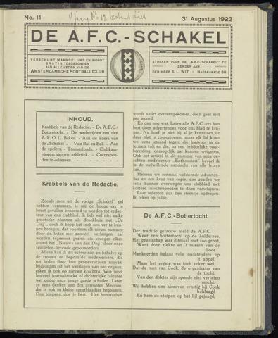Schakels (clubbladen) 1923-08-31