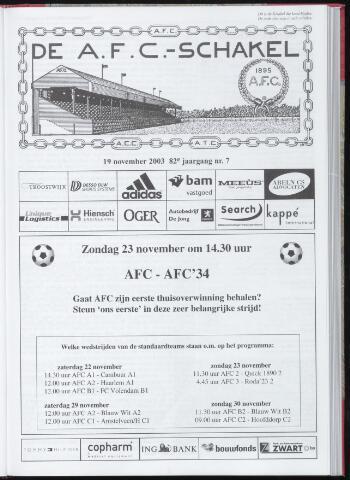 Schakels (clubbladen) 2003-11-19
