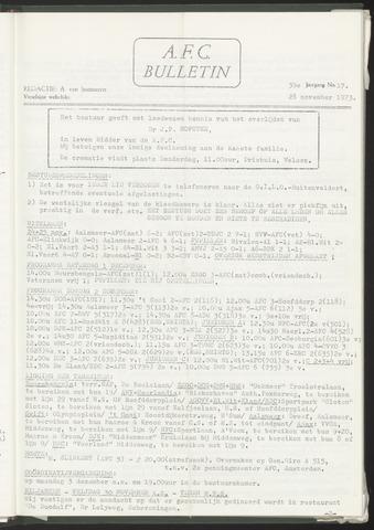 Bulletins (vnl. opstellingen) 1973-11-28