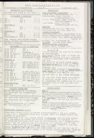 Bulletins (vnl. opstellingen) 1961-02-07