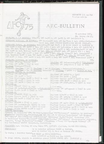 Bulletins (vnl. opstellingen) 1970-11-25