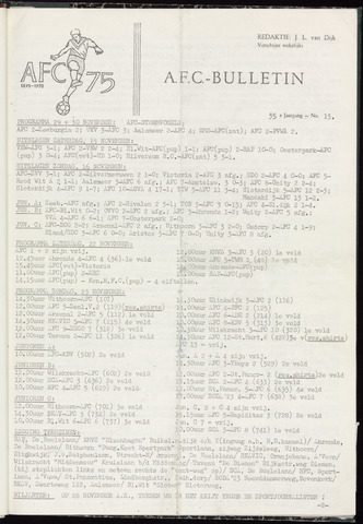 Bulletins (vnl. opstellingen) 1969-11-19