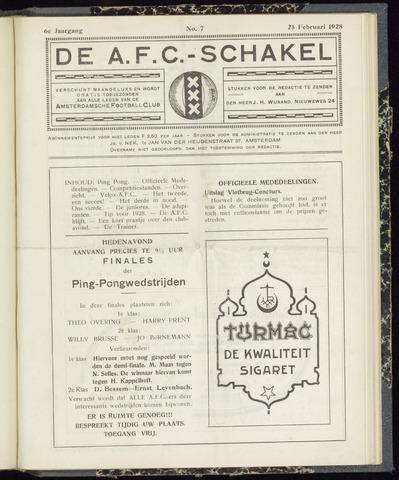 Schakels (clubbladen) 1928-02-25