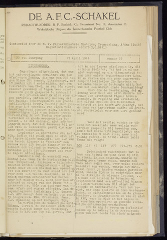 Schakels (clubbladen) 1944-04-27