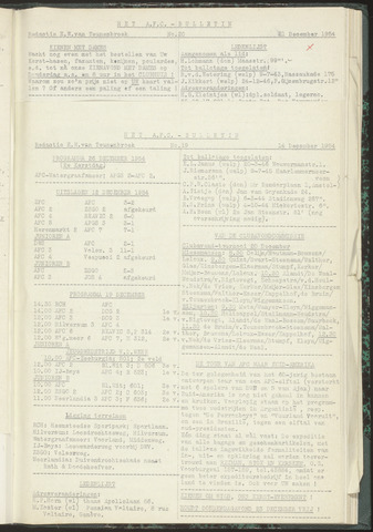 Bulletins (vnl. opstellingen) 1954-12-14