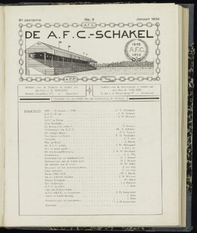 Schakels (clubbladen) 1930