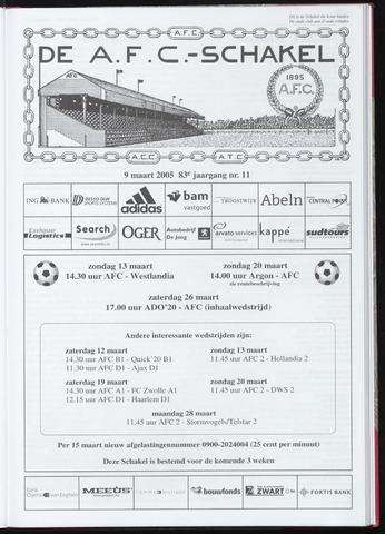 Schakels (clubbladen) 2005-03-09