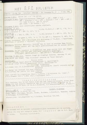 Bulletins (vnl. opstellingen) 1965-05-12