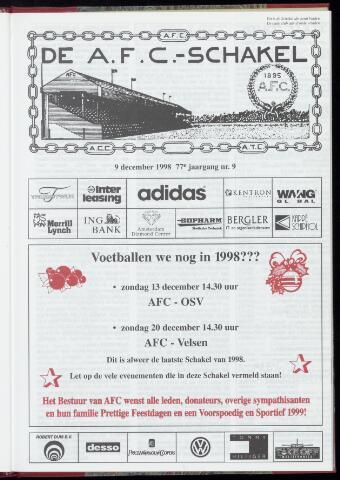 Schakels (clubbladen) 1998-12-09