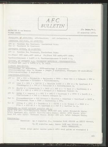 Bulletins (vnl. opstellingen) 1972-08-16