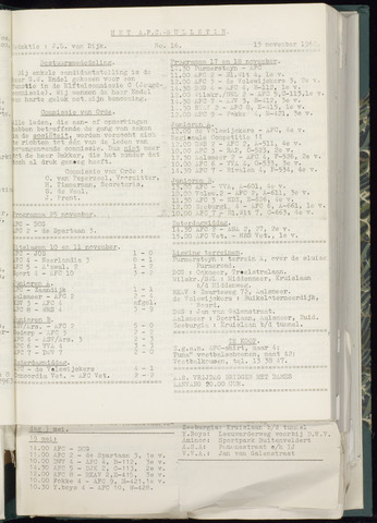 Bulletins (vnl. opstellingen) 1962-11-07
