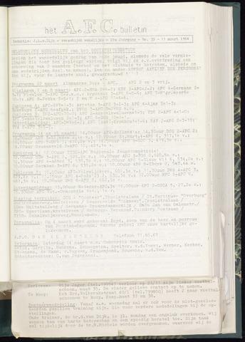 Bulletins (vnl. opstellingen) 1964-03-11
