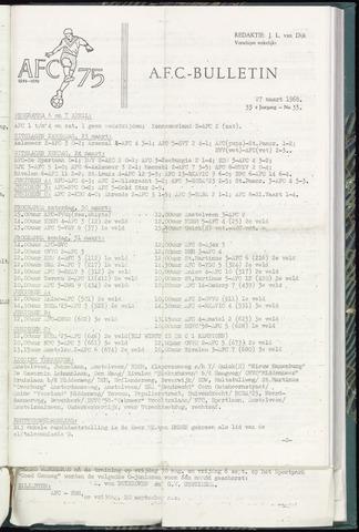 Bulletins (vnl. opstellingen) 1968-03-27