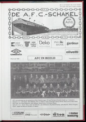 Schakels (clubbladen) 1994-01-26