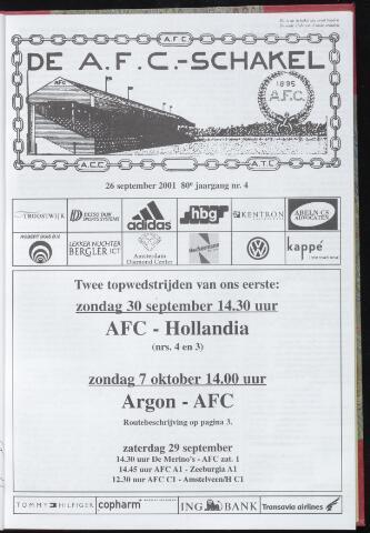Schakels (clubbladen) 2001-09-26