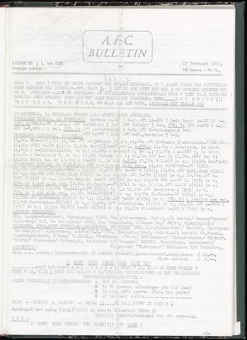 Bulletins (vnl. opstellingen) 1971-02-17