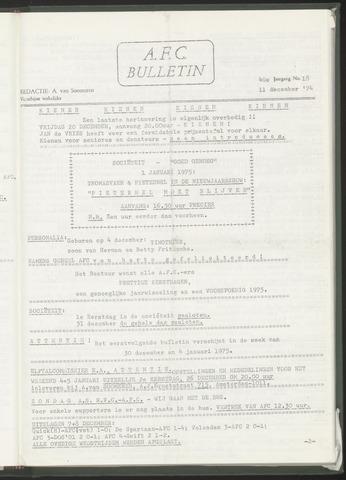 Bulletins (vnl. opstellingen) 1974-12-11