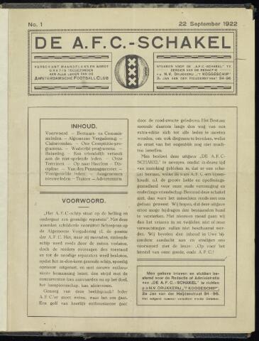 Schakels (clubbladen) 1922-09-22