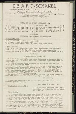 Schakels (clubbladen) 1942-11-06