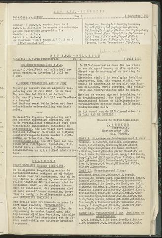 Bulletins (vnl. opstellingen) 1953-07-07