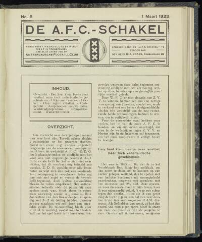 Schakels (clubbladen) 1923
