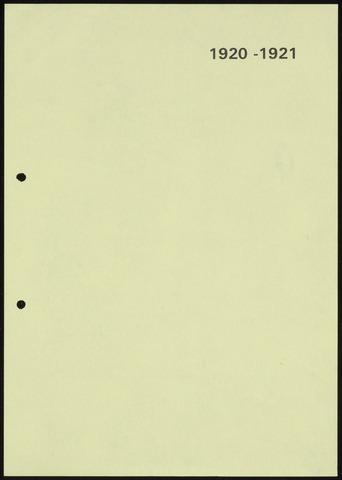 Jaarverslagen 1921-06-01