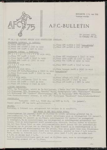 Bulletins (vnl. opstellingen) 1970-01-28