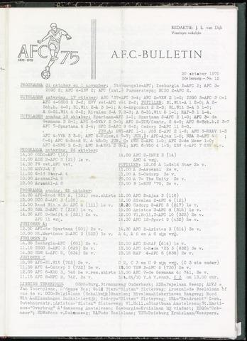 Bulletins (vnl. opstellingen) 1970-10-20